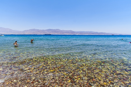 On the beautiful Red Sea in Israel  Editorial