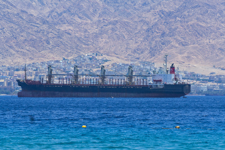 On the beautiful Red Sea in Israel  Stock Photo