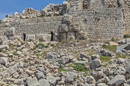 megaliths: The ruins of the ancient fortress of Nimrod in Israel.