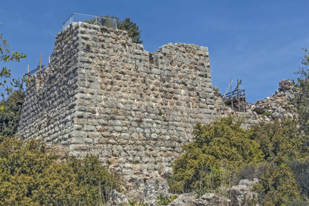 The ruins of the ancient fortress of Nimrod in Israel.