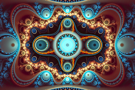 Multicolored background.   Abstract fractal.