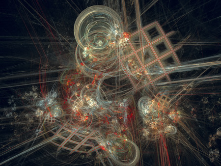 Still life. Abstract Magic energy multicolored fractal. 3D rendering.