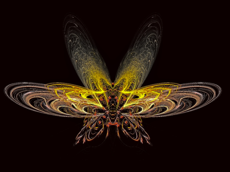 Insect. Abstract.  Magic energy multicolored fractal. 3D rendering.