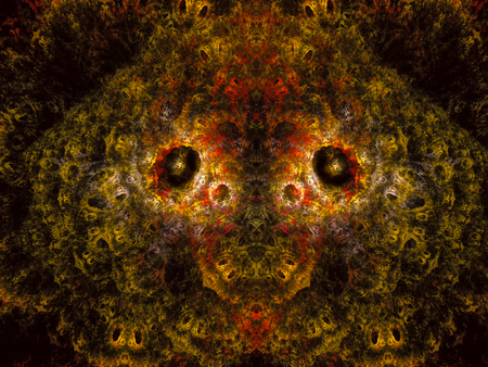 Extraterrestrial. Abstract Magic energy multicolored fractal. 3D rendering.