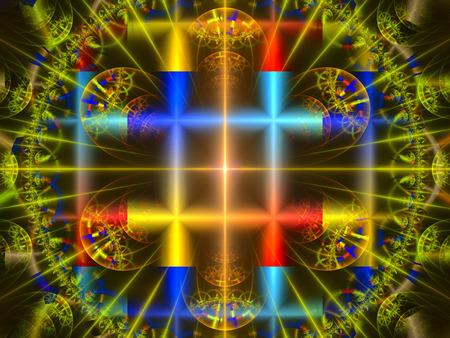 Texture. Abstract Magic energy multicolored fractal. 3D rendering. Stock Photo