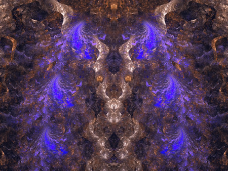 Halloween. Abstract Magic energy multicolored fractal. 3D rendering.