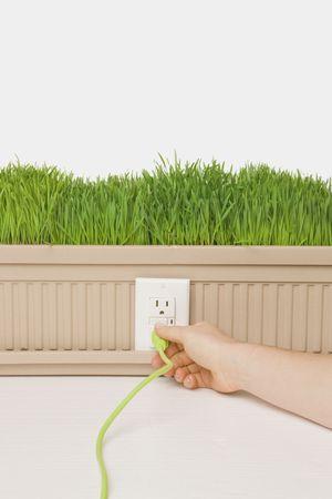 green grass power