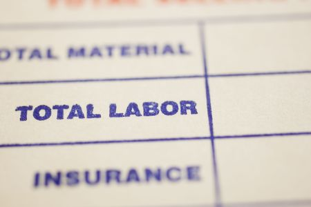 Macro shot of general invoice Stock Photo - 4848502