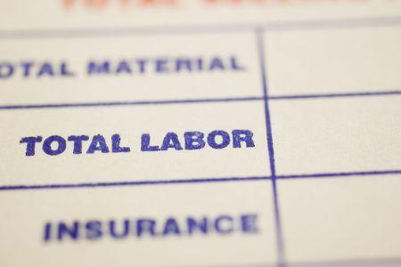 performace: Macro shot of general invoice