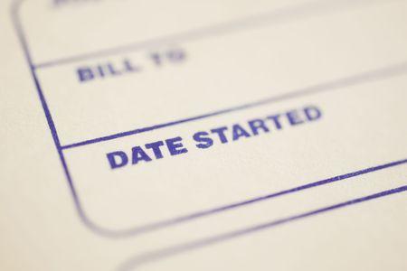 payable: Macro shot of general invoice