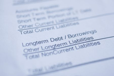 Macro of page from investment/Loan ledger Stock Photo - 4848591