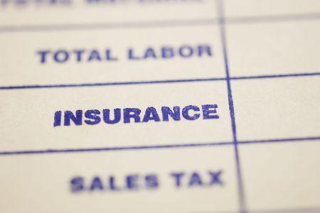 accounts payable: Macro shot of general invoice