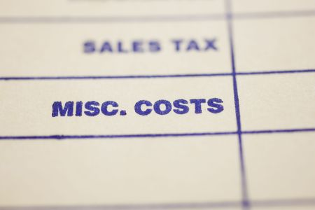 Macro shot of general invoice Stock Photo - 4848589