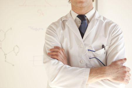 half body: half body portrait of science professional at work
