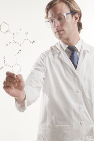 half body portrait of science professional at work