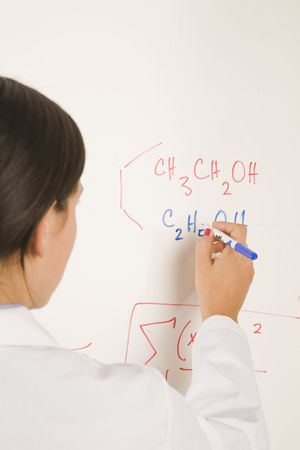 labratory: science professional writing on white board