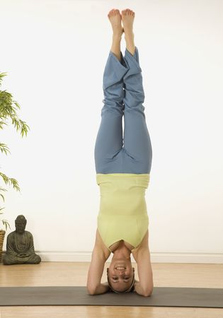 woman in a traditional yoga pose Stock Photo - 5388326