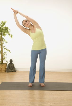 woman in a traditional yoga pose Stock Photo - 5388384