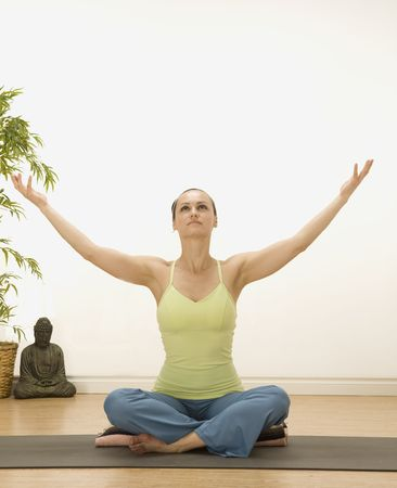 woman in a traditional yoga pose Stock Photo - 5388324