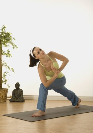 woman in a traditional yoga pose Stock Photo - 5388381