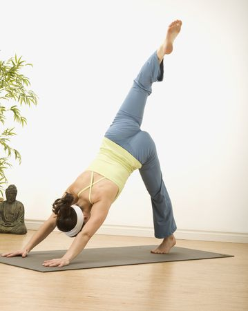 woman in a traditional yoga pose  photo