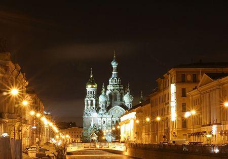 The temple of Saviour on Blood, Saint-Petersburg, Russia