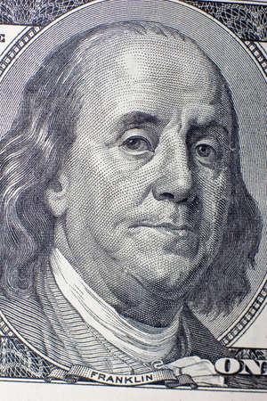 plunder: The macro of 100 dollars banknote