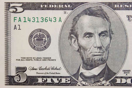 The 5 dollars banknote macro