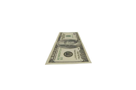 hundred dollars witn clipping path photo