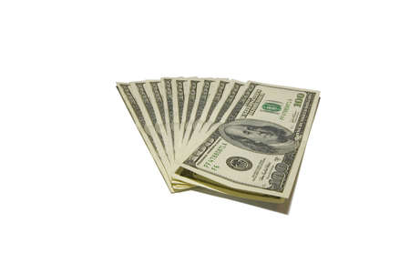 plunder: the hundred dollars banknotes with clipping path