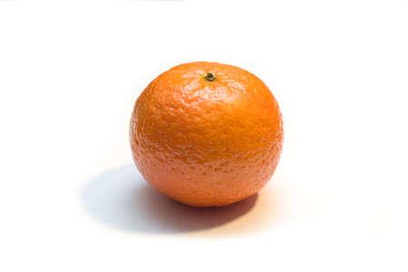the orange mandarin on white