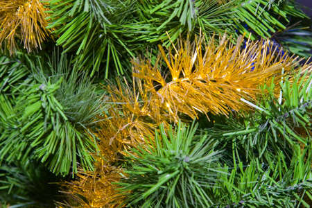 artificial model: the artificial model of green fir with decorations Stock Photo