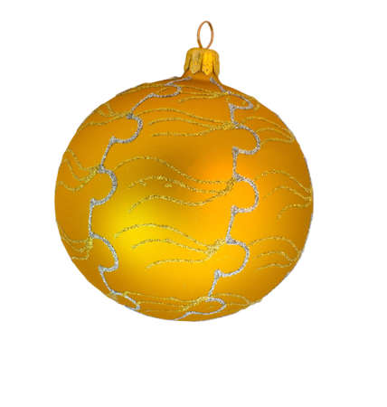 goldish: the goldish decorative ball with silver ornament