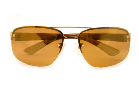 the brow sun glasses on white background