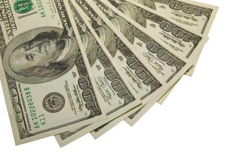 Les quelques centaines de dollars de billets avec chemin de d�tourage