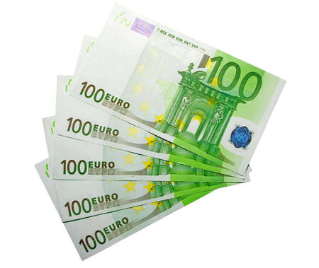 the five hundred euro banknotes with clipping path Stock Photo - 634405
