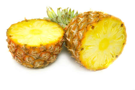 sappy: the slit pineapple isolated on white background