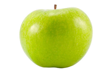 the large green apple isolated with clipping path