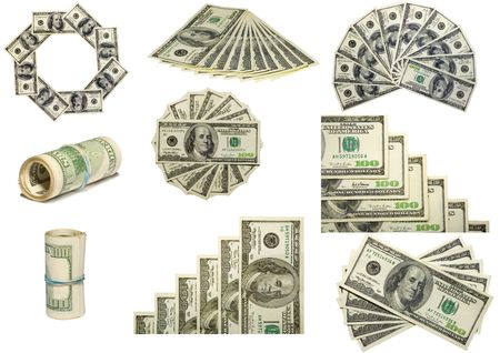 the some figures from us dollars isolated on white