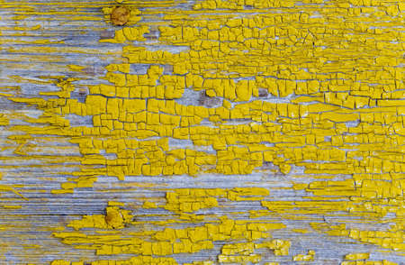 oilpaint: the background from old defective yellow oil-paint