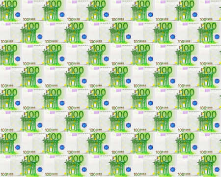 the seamless background from 100 euro banknotes photo