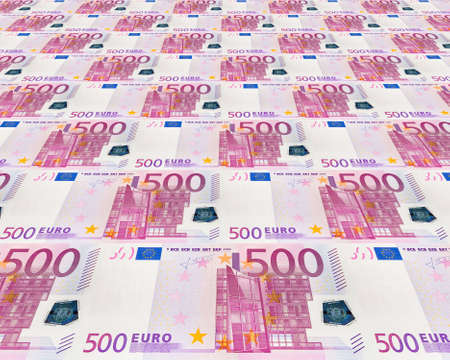 the concept background from 500 euro banknotes