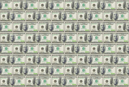 the seamless background from US dollars banknotes Stock Photo