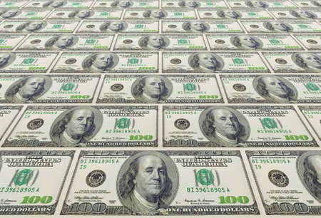 the concept background from US dollars banknotes Stock Photo