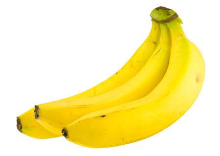 Banane bundle isol� sur fond blanc  Banque d'images
