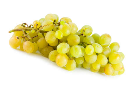 bunch of white grape isolated on white background