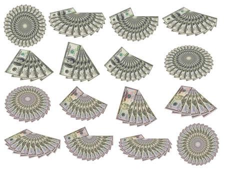 De l'ensemble des �tats-Unis d'argent isol� sur un fond blanc