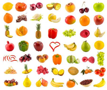 ensemble de 49 fruits, l�gumes et fruits  Banque d'images