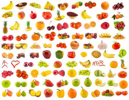 ensemble de 96 fruits, l�gumes et petits fruits