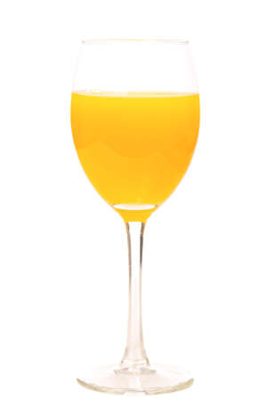 glass with orange juice on a white background photo
